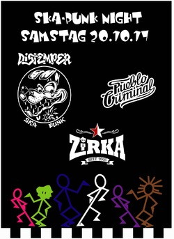 Ska-Punk Night mit Distemper, Pueblo Criminal und Zirka