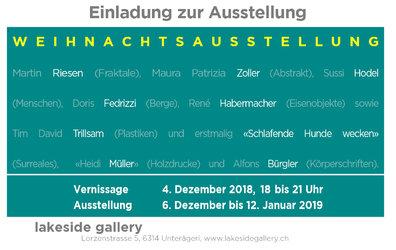 Weihnachtsausstellung Flyer