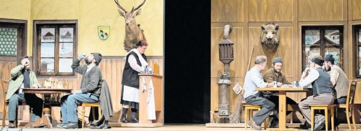 Die Theatergruppe Oberägeri mit dem Stück «S'gfrornig Härz». (Bild Maria Schmid)