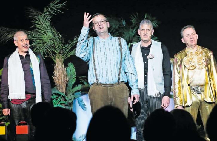 Die «Screaming Potatoes»: Jimmy Muff, Thomas Inglin, Christian Peter Meier und Christof Buri (von links). (Bild Stefan Kaiser)