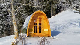 Schwesteregg - Camping Pod / Holz-Iglu