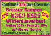 Grosser Wintersale im Sporthuuus&Outletstore in Oberurnen