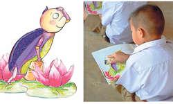 Kinderbuch hilft Waisenkindern: Sie lernen die Methode der Herzmeditation. Bild Lotus Flower Foundation