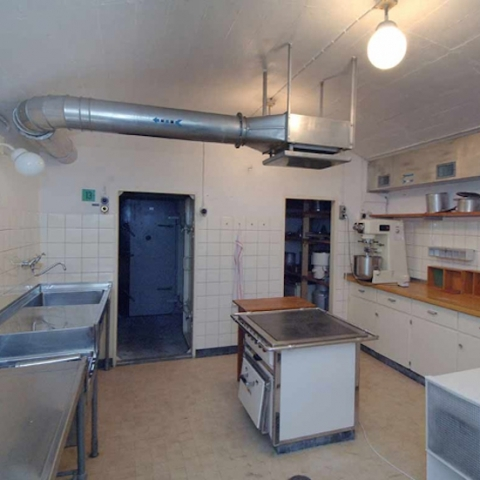 Die Küche im Festungswerk KP Heinrich