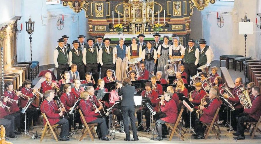 Musikgesellschaft und Jodlerklub vereint bei einem sehenswerten Konzert. (Bild PD)