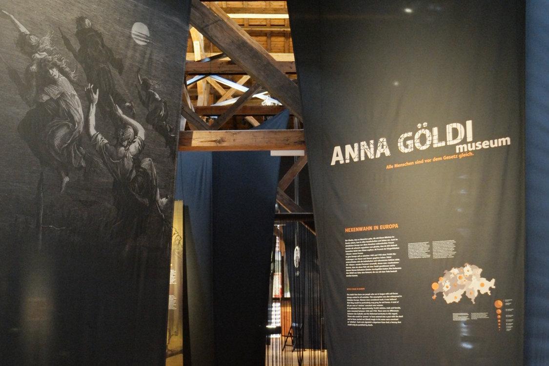 Der Eingang zur Dauerausstellung Anna Göldi
