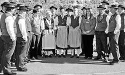 Der Jodlerklub Bärgblüemli aus Wangen erfreute die Besucher an der Jodlermesse. Bild Kurt Kassel