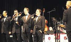 Im Stil der «Comedian Harmonists»: Die Formation «swing4you» zog alle stimmlichen, aber auch alle komödiantischen Register. Bild Christian Ballat