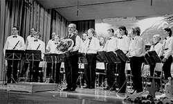 Nach 15-jähriger Tätigkeit verlässt Dirigent David Kistler die Feldmusik Vorderthal. (Bild: Nicolas Böni)