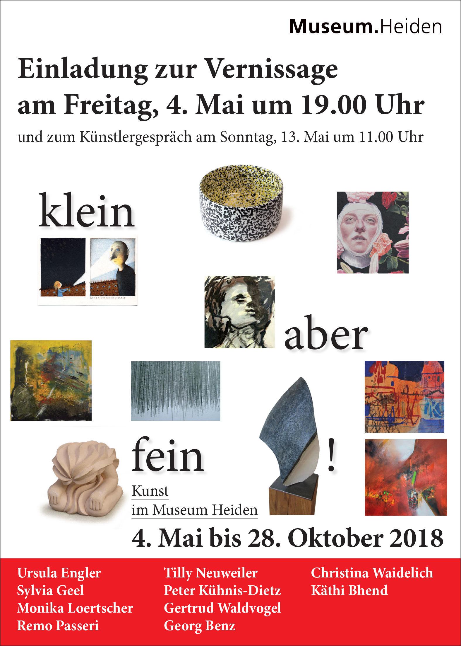 klein aber fein - Zehn Heidler Kulturschaffende präsentieren ihre Werke