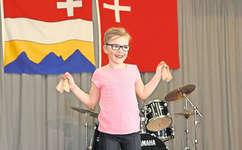 Gut gelaunt und locker spielte die 8-jährige Rahel Heinzer, was ihr den 2. Rang in ihrer Kategorie einbrachte.