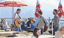 Musikalische Einstimmung am Apéro auf der «Froni»-Terrasse mit Black Creek