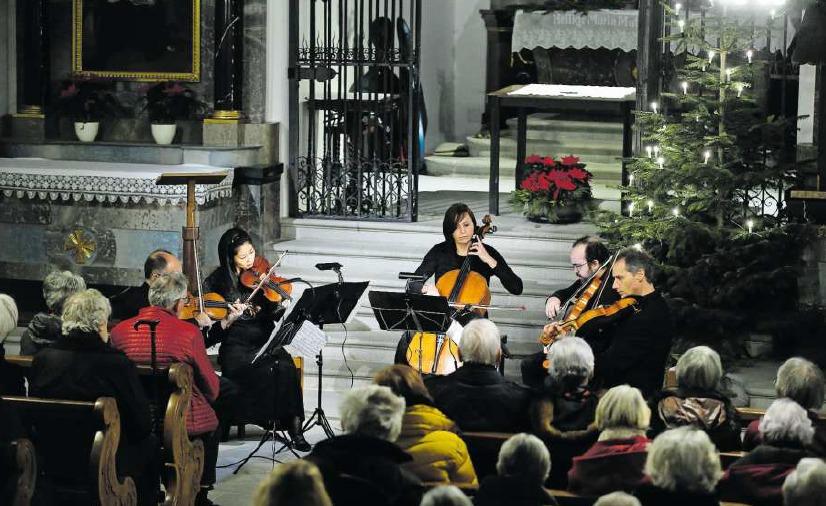 Anspruchsvolle Klassik präsentierte das Collegium Musicum Zug zum Neujahr in der Liebfrauenkapelle. (Bild Stefan Kaiser)