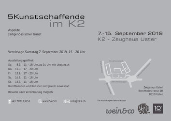 5 Kunstschaffende im K2 - Aspekte zeitgenössischer Kunst - 1