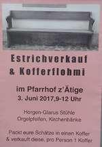 Estrichverkauf & Kofferflohmi im Pfarrhof