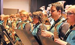 Das Saxofonregister der Musikgesellschaft Steinen war bei den Big-Band-Stücken gefordert. Bilder Ruth Auf der Maur