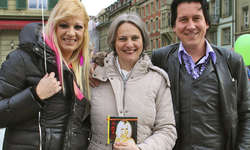 Ein Herz für Kinder: Nikki, Daniela Dommen und Rasmus. Bild zvg