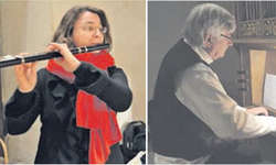 Die Flötistin Katharina Egli-Niedderer und der Organist Bernhard Isenring spielen wenig bekannte Werke aus dem Barock. Bilder Paul Diethelm