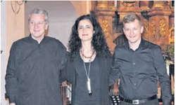 Das Perkussions-Trio beherrschte die speziellen Instrumente perfekt. Bild Maria Pierson
