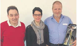 Drei der vier geehrten Mitglieder (v.l.): Alois Gyr, Sibylle Suter und Martin Kälin. Es fehlt Erwin Gantner.