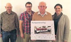 Die Ehrenmitglieder und Notker Oechslin (von links): Peter Gantner, Stefan Oechslin, Notker Oechslin und Mirjam Schorno. Bild zvg