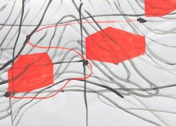 Anna Margrit Annen, Acryl auf Papier (Ausschnitt)