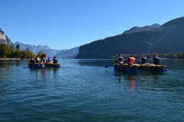 Gruppenangebot: Flossbauen am Walensee mit Grillplausch im Gäsi - 1