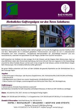 Herbstliches Golfvergnügen vor den Toren Solothurns! - 1