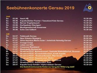 Seebühnenkonzerte Gersau 2019 - 1