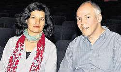 Mit neuem Filmprojekt: Salome Pitschen und Thomas Horat. Bild Ernst Immoos
