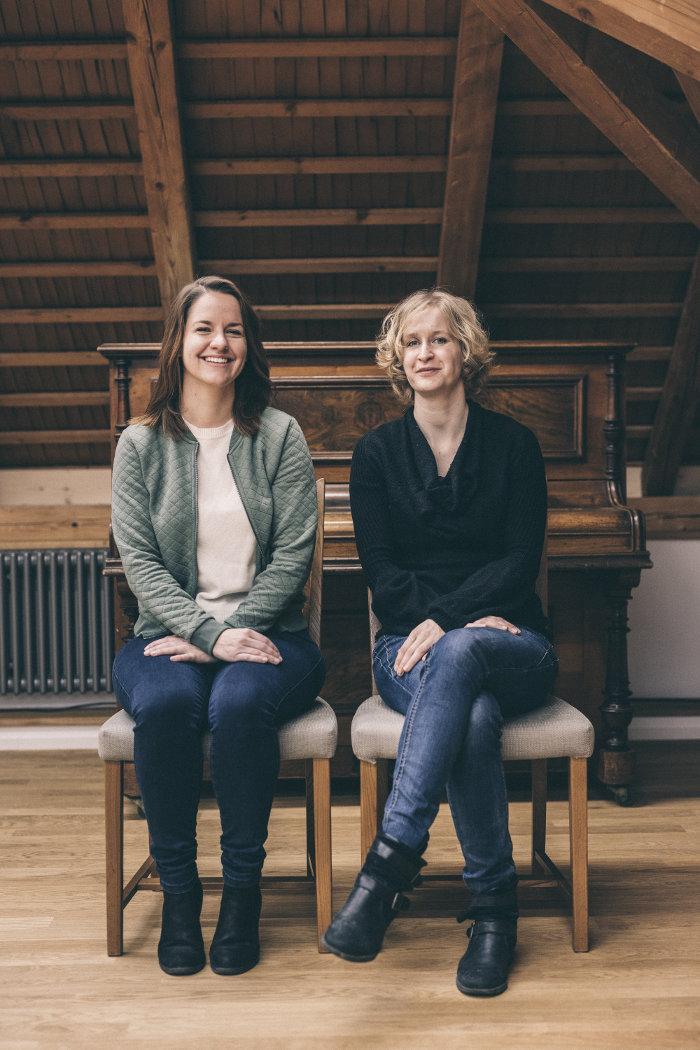Madeleine Flury und Giannina Masüger im Schwesternhaus in Baar. (Bild: Philippe Hubler)