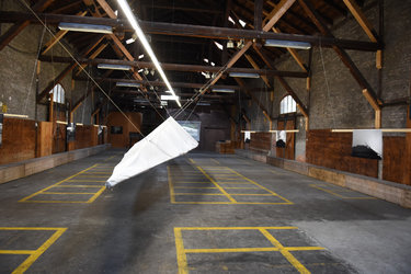 Installation von Martin Stützle im Güterschuppen Glarus
