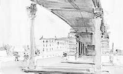 Das Bild «Metro-Station in Paris» malte Rudolf Zender im Jahr 1964. Bild zvg