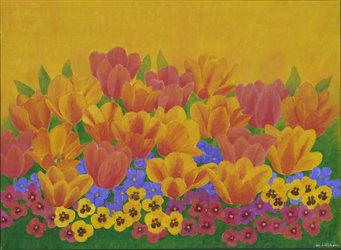 Tulpen, Acrylfarben
