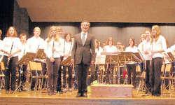 Die Jugendmusik Siebnen (im Bild ) und die Harmoniemusik Schübelbach-Buttikon boten am Samstagabend einen abwechslungsreichen Hörgenuss. Bild Paul Diethelm