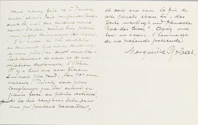 Lettre de Marguerite Gobat à Carl Spitteler. 24.04.1915. Archives littéraires suisses. Fonds Spitteler
