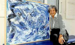 Ein Werk von Magda Blau, das in der Galerie Erni gezeigt wird: Die Künstlerin Magda Blau wohnt in Merlischachen. Dort arbeitet sie auch im Atelier. (Bild: Edith Meyer)