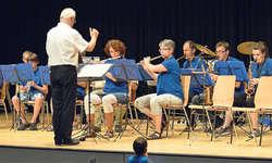 Die Bläserklasse der Musikschule konzertierte. Bild Guido Bürgler