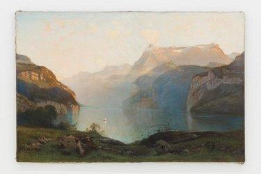 Der erste Ankauf der Sammlung des Glarner Kunstvereins (1871): Louis Auguste Veillon, Abend bei Brunnen, 1870. Foto: Gunnar Meier