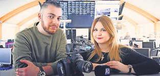 Murat Temel und seine Kollegin Jennifer Furer arbeiteten nur zu zweit an dem grossen Projekt: «Es war viel Arbeit, aber das war es wert.» Bild: PD