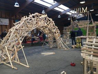 Bauspiel-Aktion, Dachlatten, SPUKJ, 2019, Uster