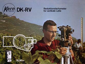 Werbeplakat für die optisch-mechanische Messung mit dem Kerninstrument DK-RV