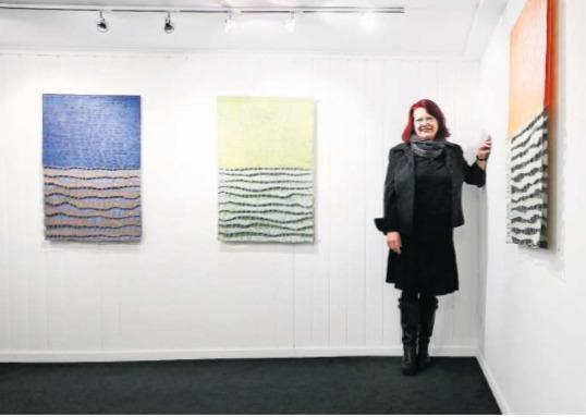 «Verdichtet» – Verena Voser und ihre neuen Arbeiten. (Bild Stefan Kaiser)