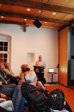 Armin Rusterholz, mit Publikum