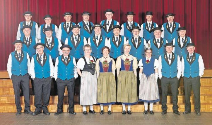 Der Jodlerklub Echo Baarburg. (Bild: PD)