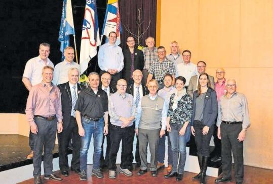 Die Veteranen des Zuger Blasmusikverbands. (Bild PD)