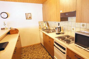 Ferienwohnung im Arvenbüel Küche