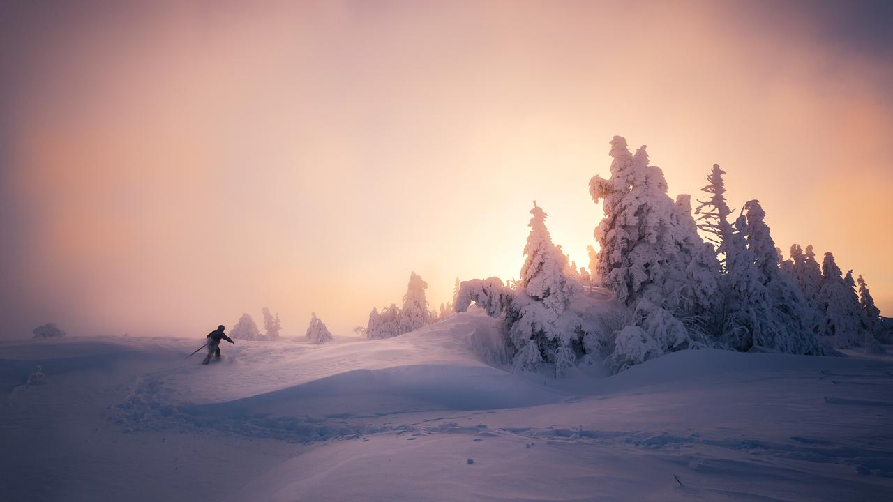Sonnenaufgangs-Schneeschuhwanderung