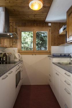 Küche mit Glaskeramikherd, Umluftbackofen und Geschirrspühler