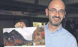 Carlo Stuppia führte mit seinem «wundersamen Bilderreigen » durch die Schönheit der Oberseelandschaften. Bild Tanja Holzer